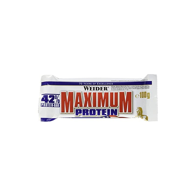 Weider 42% Protein Barre Vanille 16 x 100 gm