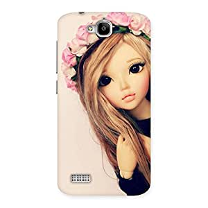 Impressive Pink Rose Doll Back Case Cover for Honor Holly