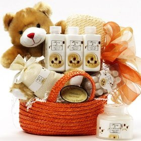 Art of Appreciation Gift Baskets Honey Bear Spa Bath and Body Set