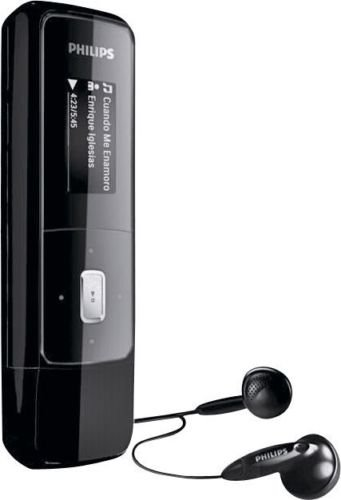 philips gogear mix mp3 player usb memeory stick dictaphone 4gb recorder black ebay. Black Bedroom Furniture Sets. Home Design Ideas