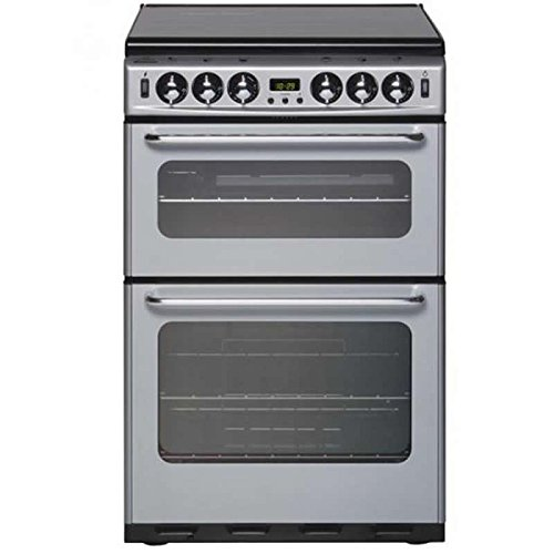 New World NH550TSIDOMSIL 550mm Double Gas Cooker Electric Grill FSD Silver