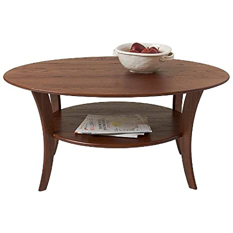 Manchester Wood Oval Coffee Table - Chestnut