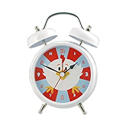 Silent Sweep No Tick Tock Talking Alarm Clock Rooster