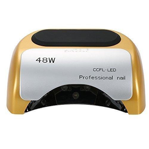 Anself 110-220V 48W professionale CCFL + salone di bellezza luce LED lampada UV chiodo asciuga con l'impostazione del Timer automatico ad induzione