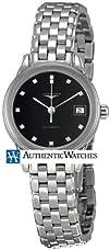 Longines Flagship Black Dial Diamond Ladies Watch L42744576