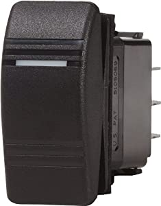 Blue Sea Systems Contura (ON)-OFF-ON DPDT Switch, Black