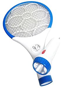 Aone A One Rechargeable Mosquito Bat With Led Torch Blue
