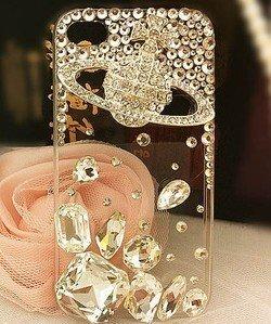 iPhone 4S/4 DecoQueenオリジナル商品 ノベルティ付き! ケース カバー ヴィヴィアン ブランド キラキラ デコ電 ラインストーン 0003 アイフォン