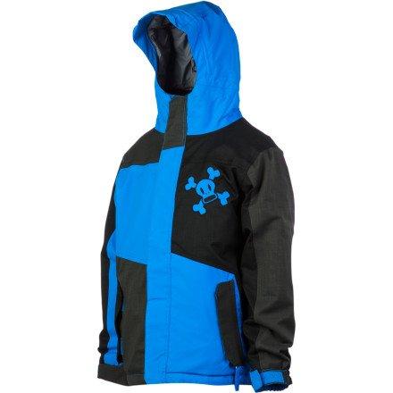 Paul Frank Boys' Skurvy Block Insulated Jacket (Blue, X-Large)