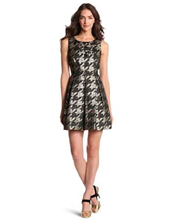 Miss Sixty Women's Adrienne Dress, Houndstooth, 6