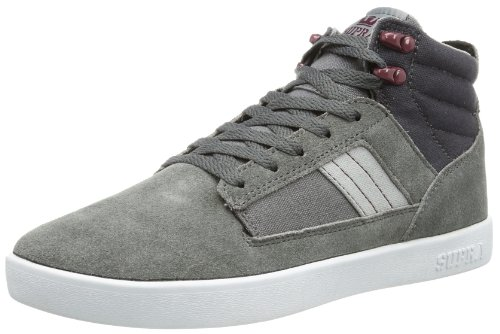 Supra BANDIT S39032, Sneaker uomo, Grigio (Grau (CHARCOAL / BURGUNDY - WHITE CHB)), 42.5