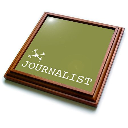 Trv_179884_1 Kike Calvo Drone And Unmanned Vehicle Collection - Small Green Drone Of Journalist And Photographer - Trivets - 8X8 Trivet With 6X6 Ceramic Tile