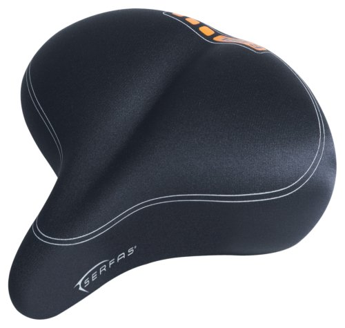 Serfas Men's E-Gel Cruiser Elastomer Bicycle Saddle - EG-8966