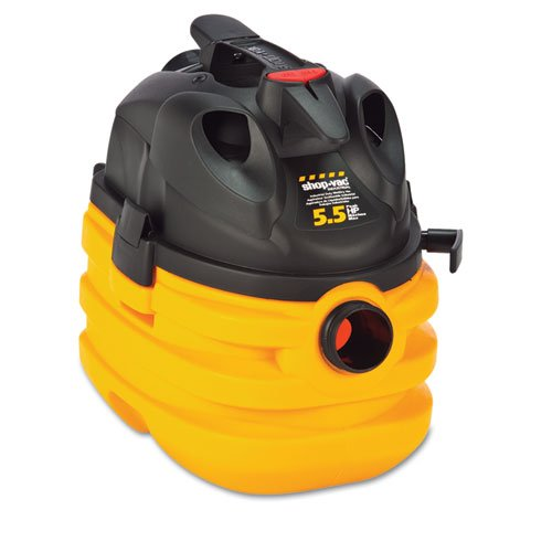 Shop-Vac Heavy-Duty Portable Wet/Dry Vacuum, 5-Gallon Capacity, 17 Lbs, Black/Yellow - One Wet/Dry Vacuum Cleaner. front-16231