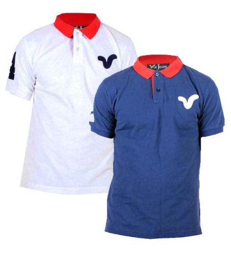 Mens Voi Jeans Wyndham Numbered Polo Shirt (Small 38