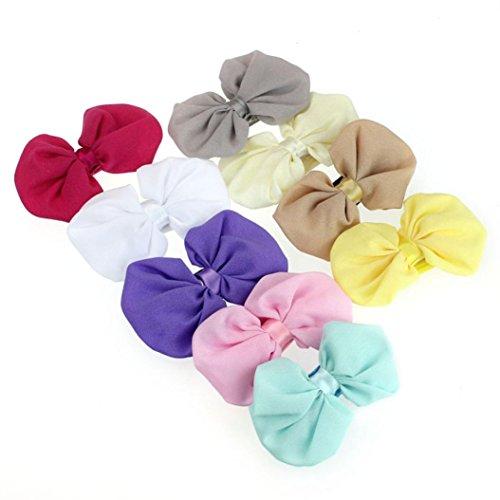 Gillberry 9PCS Babys Girls Chiffon Flower Elastic Headband Photography Headbands (Muiticolor)