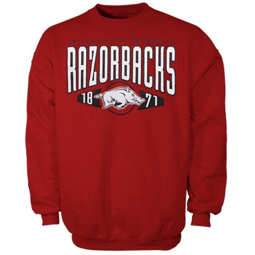 Arkansas Razorbacks Apex Pullover Sweatshirt Cardinal at Amazon.com
