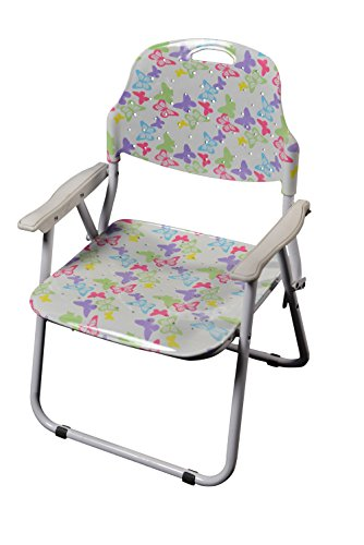 """Amaze"" Folding Baby kids children printed portable outdoor study dining furniture play group Chair-Multi Color Butterfly"