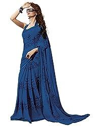 Subhash Sarees Daily Wear Blue Color Georgette Saree Sari Sarees