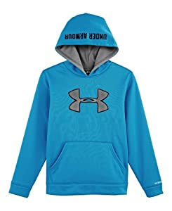 Under Armour Boys' Armour® Fleece Storm Big Logo Hoodie YXL PIRATE BLUE
