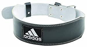 adidas Leather Weightlifting Belt, XX-Large, Black