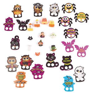 [Halloween Finger Puppet Assortment Party Favors, 50 pieces per pack] (Sock Puppet Costume Monkey)