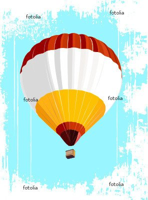 """Wallmonkeys Peel and Stick Wall Decals - Hot Air Balloon - 48""""H x 36""""W Removable Graphic"""