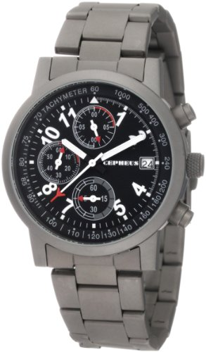 CEPHEUS CP506-121 - Reloj de caballero de cuarzo, correa de acero inoxidable color gris