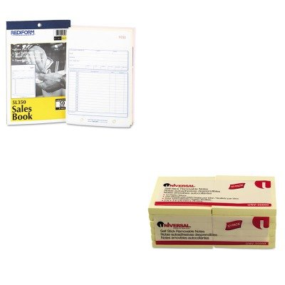 KITRED5L350UNV35668 - Value Kit - Rediform Sales Book (RED5L350) and Universal Standard Self-Stick Notes (UNV35668) kitmmmc214pnkunv10200 value kit scotch expressions magic tape mmmc214pnk and universal small binder clips unv10200