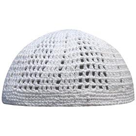 9c18f7ad34b Plain White Open Weave Soft Cotton One-size Muslim Islamic Kufi Hat Taqiya  Takke Peci Skull Cap  Everything Else