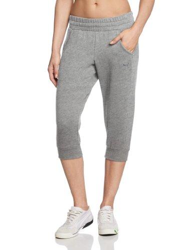 Puma Capri - Pantaloni da jogging 3/4 da donna, Grigio (Grigio - athletic gray heather), L