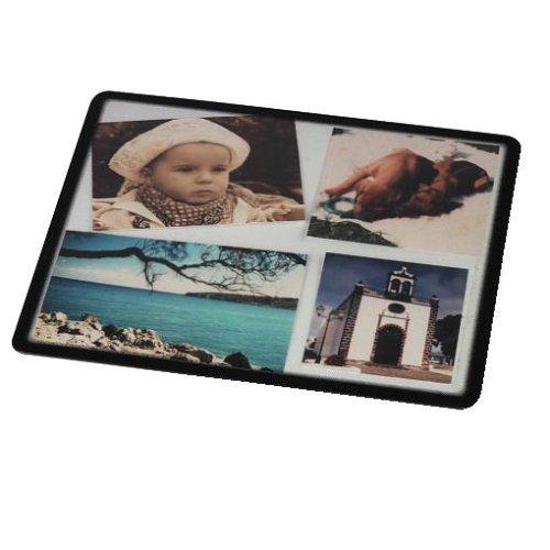 Hama Foto-Mauspad (zum Selbstgestalten mit Fotos, Bildern oder Postkarten, 23 x 19,5 cm) transparent