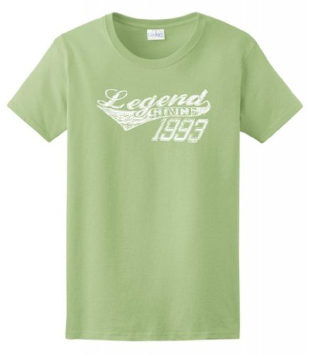 Legend Since 1993 21St Birthday Distressed Ladies T-Shirt Large Pistachio front-892298