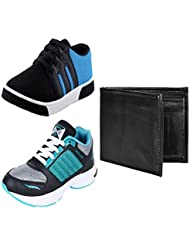 Earton Men COMBO Pack Canvas Casual Shoe & Sports Shoe With Wallet