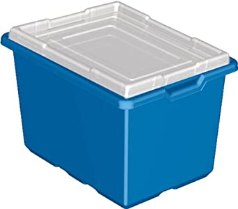 "LEGO Education Storage Bin, Blue 12"" x 16.5"" x 10"" 4282564 (Pack of 6 Bins)"