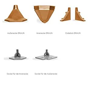 Endstück passend für Küchenabschlussleiste LB32/LB33/LB34 -- Dekor BRONZE