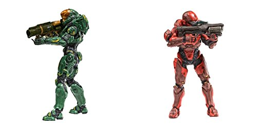 Super Hero Halo 5: Guardians Series 2 Spartan Hermes Vs Halo 5: Guardians Series 2 Spartan Athlon Action Figure