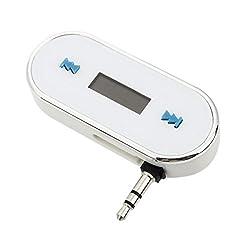 Futaba In-Car Handsfree Talk 3.5mm Car FM Transmitter for Smartphone - White