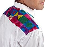 Riverbero Men's Casual Shirt (SN_DFS_223_White_40)