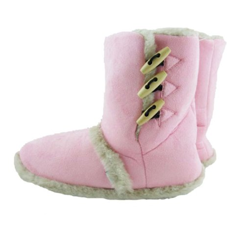 Ladies Coolers Girls Toggle Ankle Boot Slippers