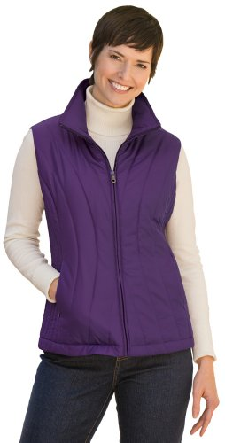 Collections Etc - Womens Zip Front Stand Up Collar Quilted Vest
