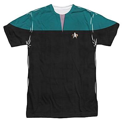Sublimation: Voyager Science Uniform Costume Star Trek Voyager T-Shirt