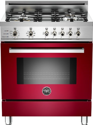 Pro304Dfsvi | Bertazzoni Professional 30 Dual Fuel Range, 4 Burners, Natural Gas - Vino