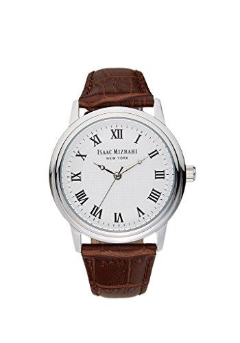 Round Vintage Case Watch in Brown