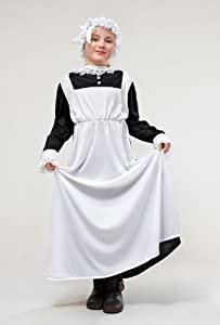 Victorian Maid - Childrens Fancy Dress Costume - Large - 134cm to 146cm