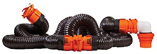 Camco 39741 RhinoFLEX 20' Sewer Hose Kit with Swivel Fitting