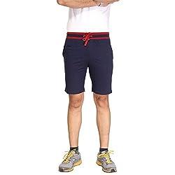 Men's Cotton Shorts in Navy Bongio_RMS5A3006B_XL