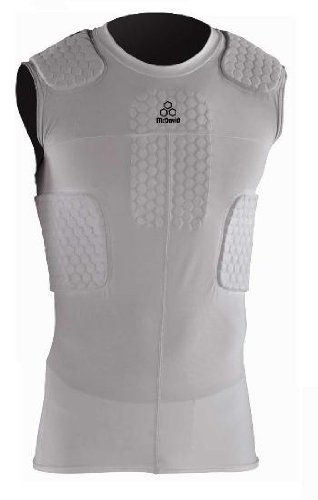McDavid Hex Pad 6 Pad Sleeveless Body Shirt, Large