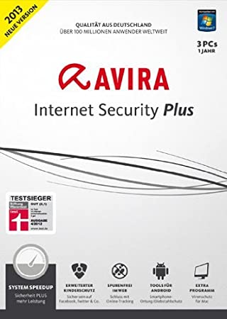 Avira Internet Security PLUS 2013 - 3 User [Download]