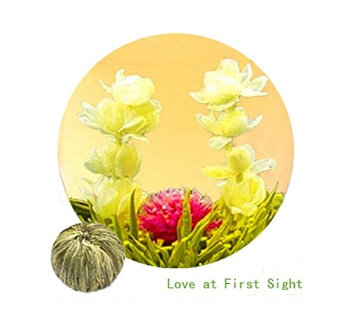Be Oneself Fresh Flavor Natural Craft Flower Tea Blooming Jasmine Flower Tea Ball Love At First Sight Set Of 10 80G Unique Healthy Tea Enjoy Fully